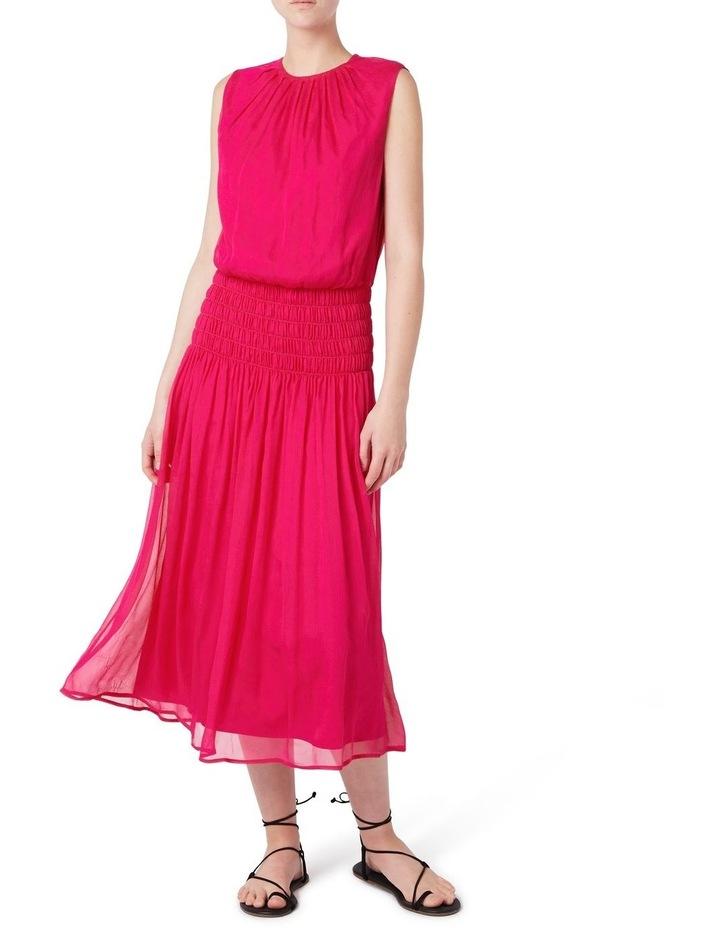 Macie Silk Gathered Dress image 1