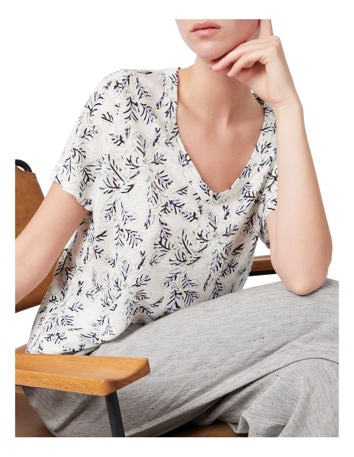Fig Printed Linen Tee image 4