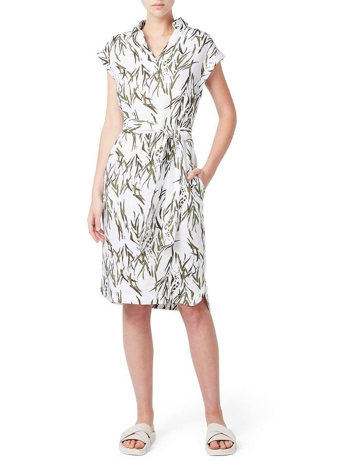 Mara Printed Linen Dress image 1