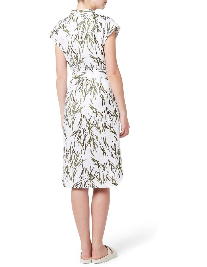 Mara Printed Linen Dress image 3