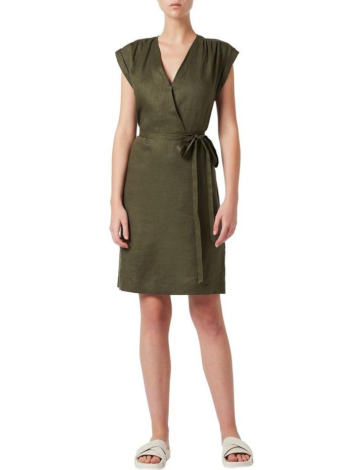 Helene Linen Wrap Dress image 1
