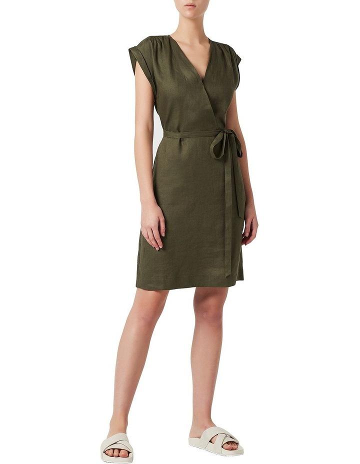 Helene Linen Wrap Dress image 2