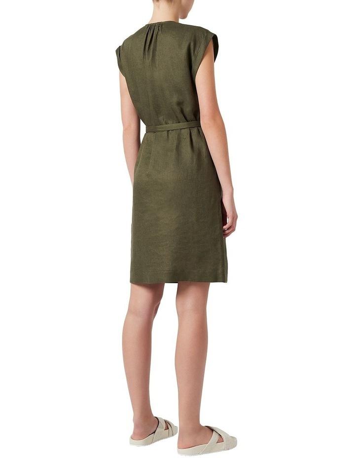 Helene Linen Wrap Dress image 3