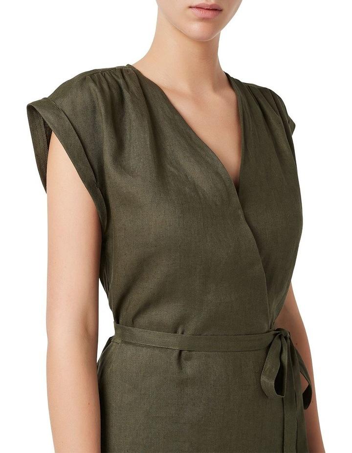 Helene Linen Wrap Dress image 4