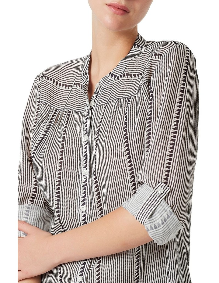 Ellen Stripe Printed Blouse image 1
