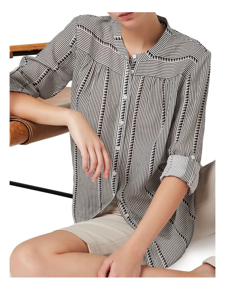 Ellen Stripe Printed Blouse image 4