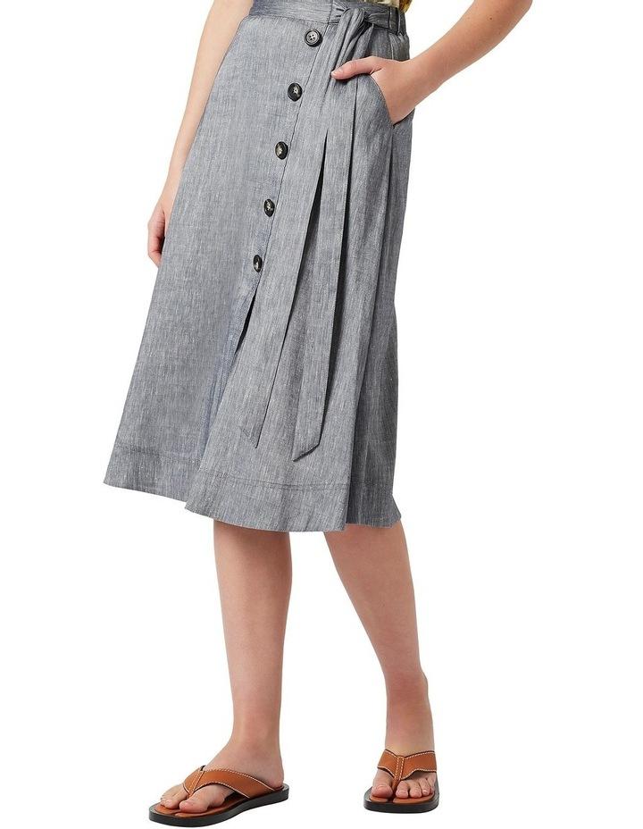 Spencer Linen Wrap Skirt image 1