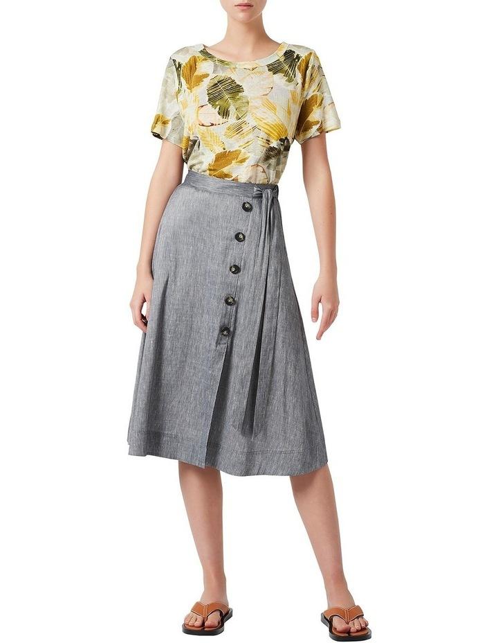 Spencer Linen Wrap Skirt image 2