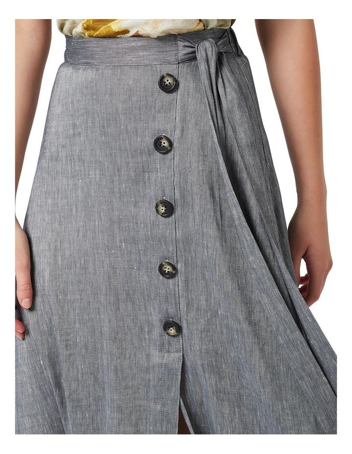 Spencer Linen Wrap Skirt image 4