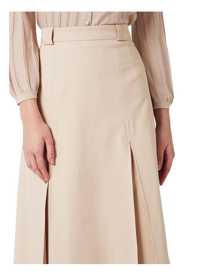 Topstitch Detail Skirt image 4