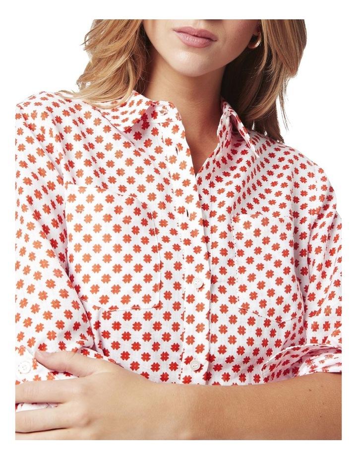Frances Printed Linen Shirt image 4