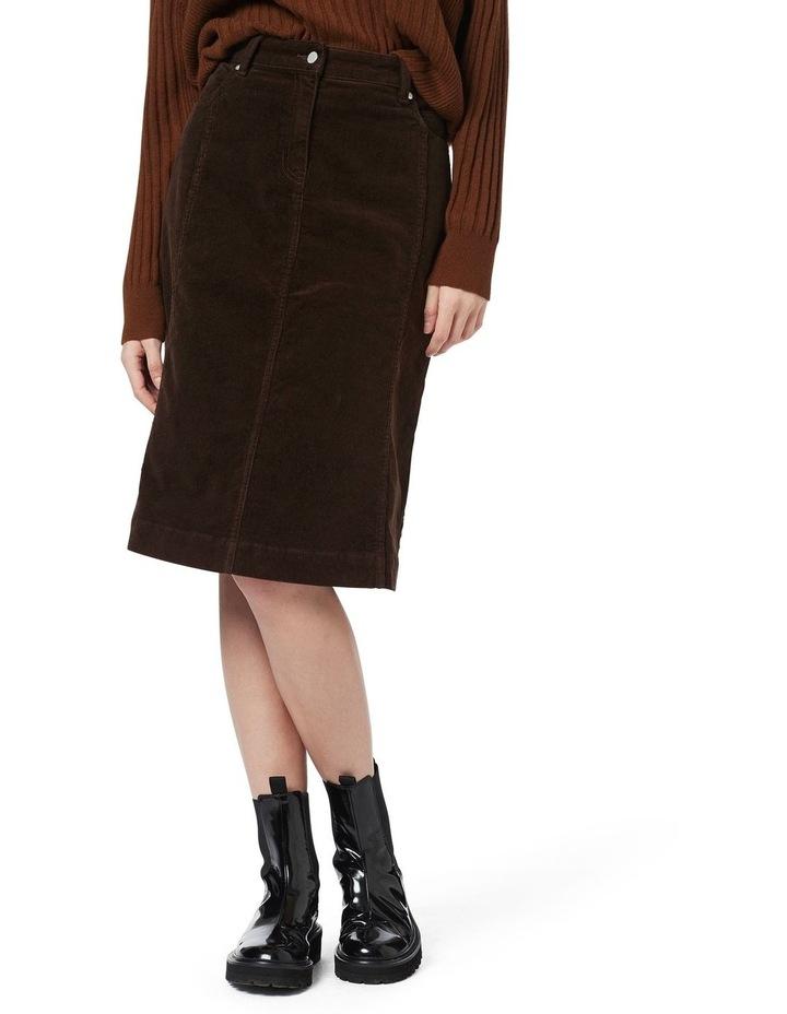 Celine 5 Pocket Cord Skirt image 2