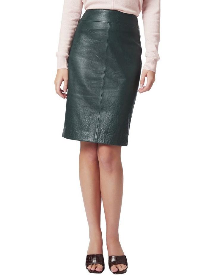 Maddi Leather Pencil Skirt image 1