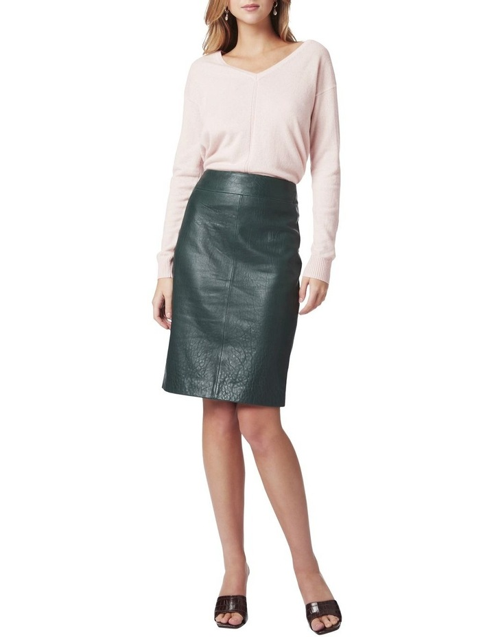 Maddi Leather Pencil Skirt image 2