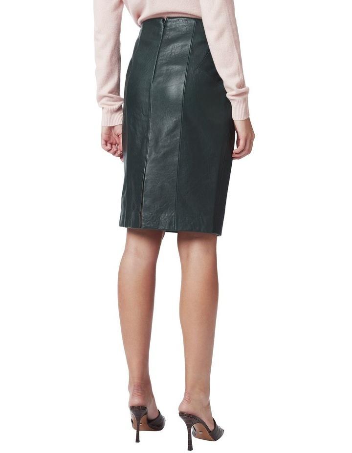 Maddi Leather Pencil Skirt image 3