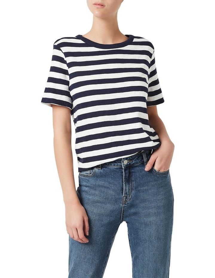 Cotton Stripe Slub Tee image 1