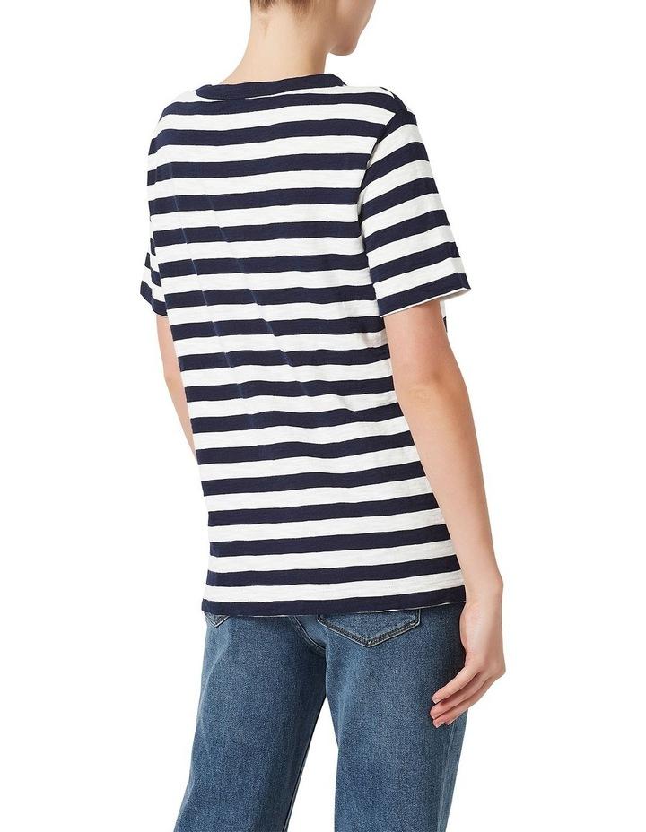 Cotton Stripe Slub Tee image 3