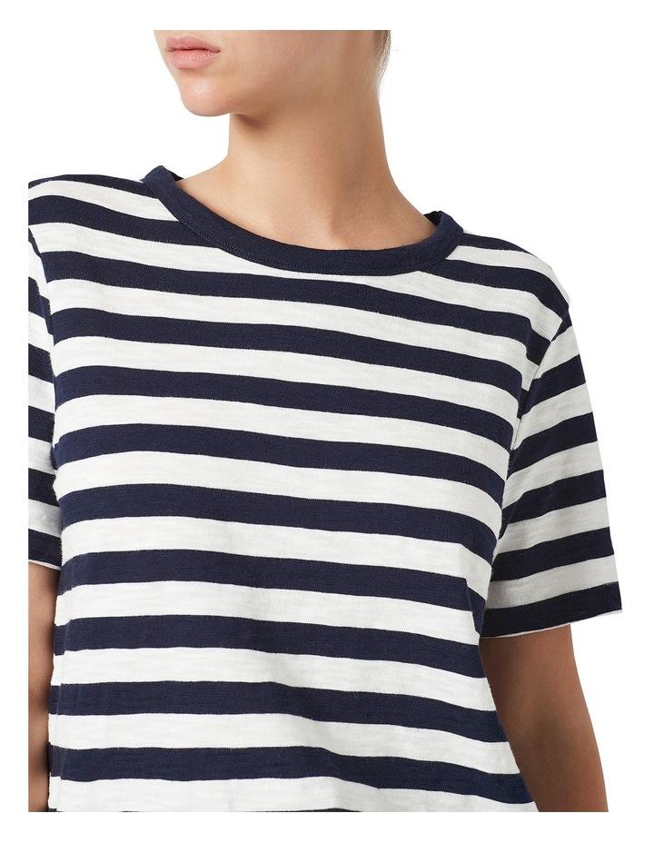 Cotton Stripe Slub Tee image 4