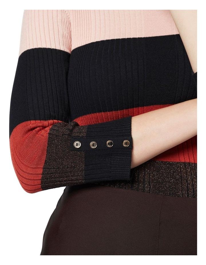 Stripe Long Sleeve Rib Jumper image 3