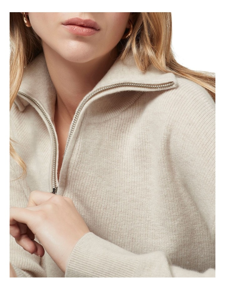 Verity Ribbed Zip Knit image 4