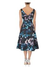 Anthea Crawford - Midnight Floral Twill Dress