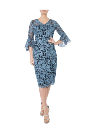 Anthea Crawford - Glacier Embroidered Lurex Dress