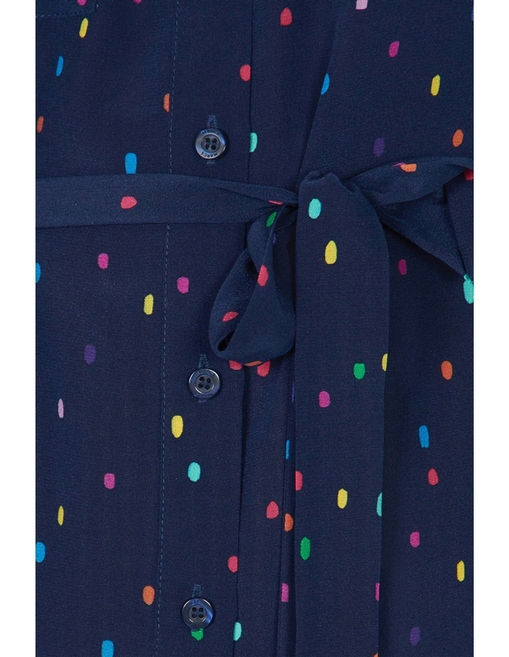 Racing Comets Silk Shirt Dress image 4