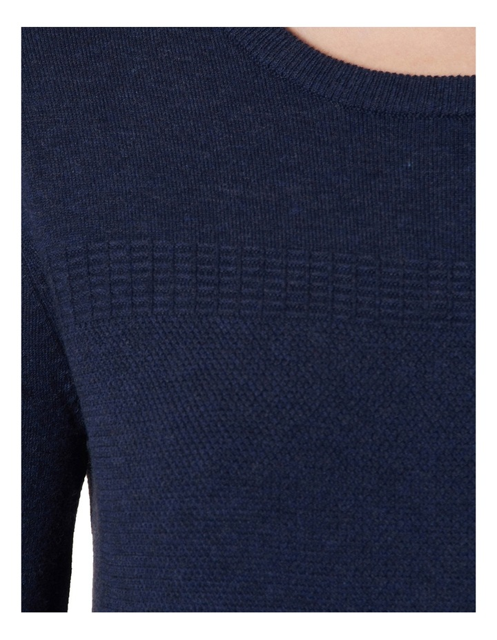 Elsa Moss Stitch Cropped Sleeve Knit image 4