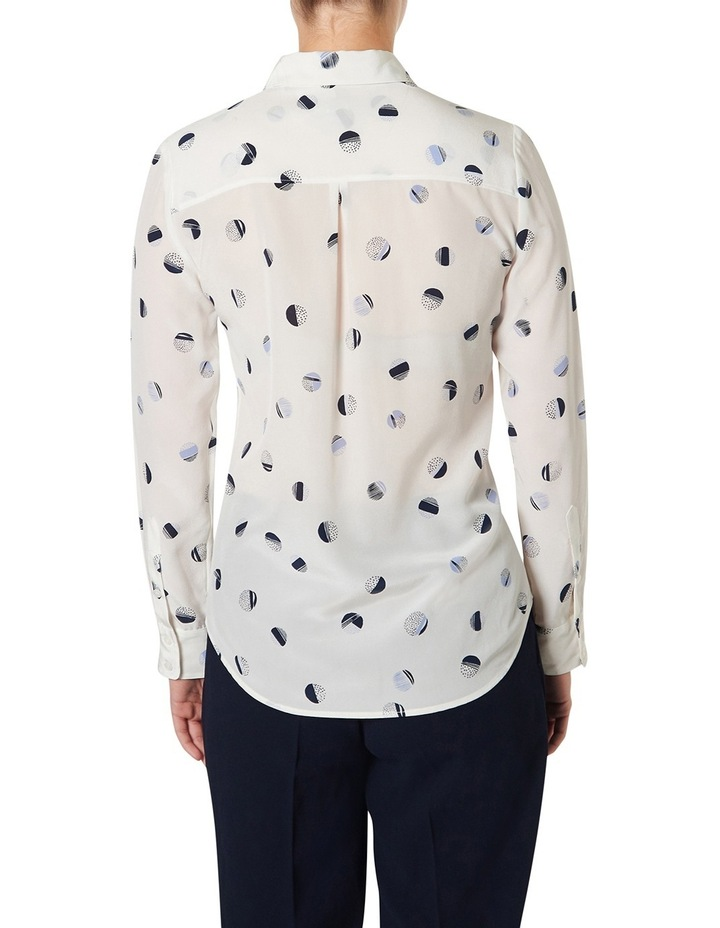 Painterly Marble Print Silk Shirt image 3