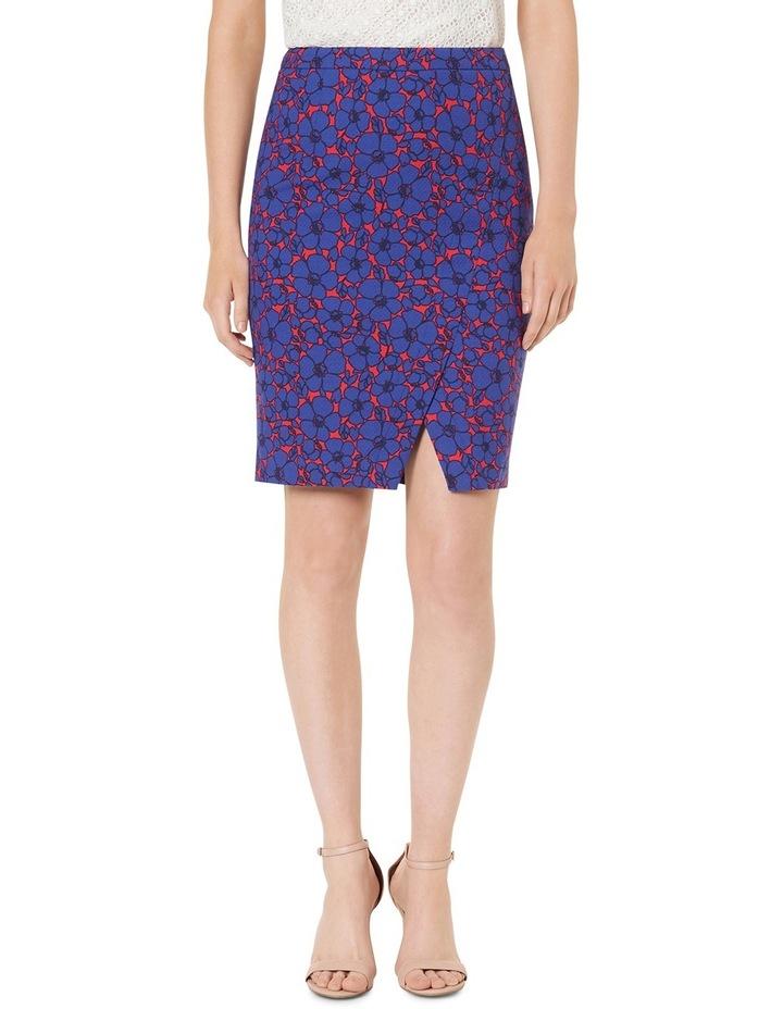 Lena Floral Print Textured Skirt image 1