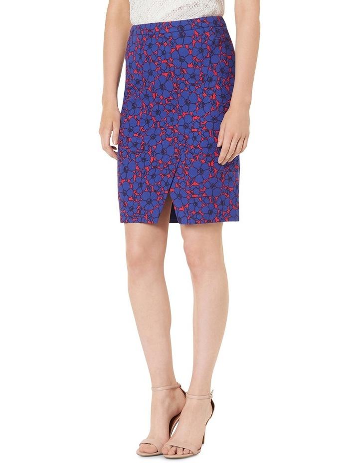 Lena Floral Print Textured Skirt image 2