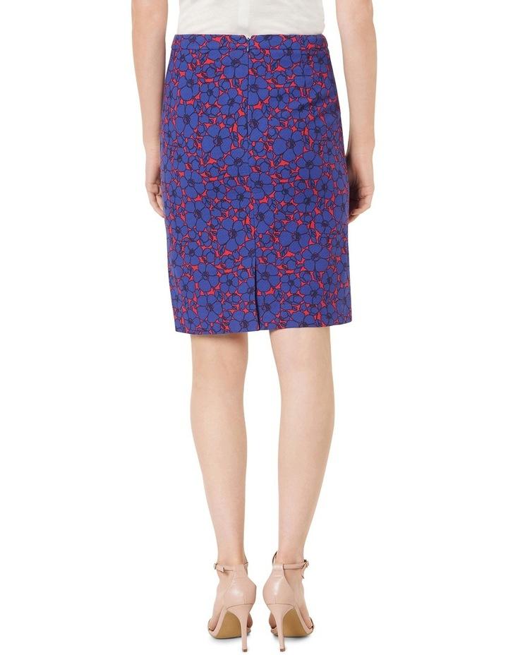 Lena Floral Print Textured Skirt image 3