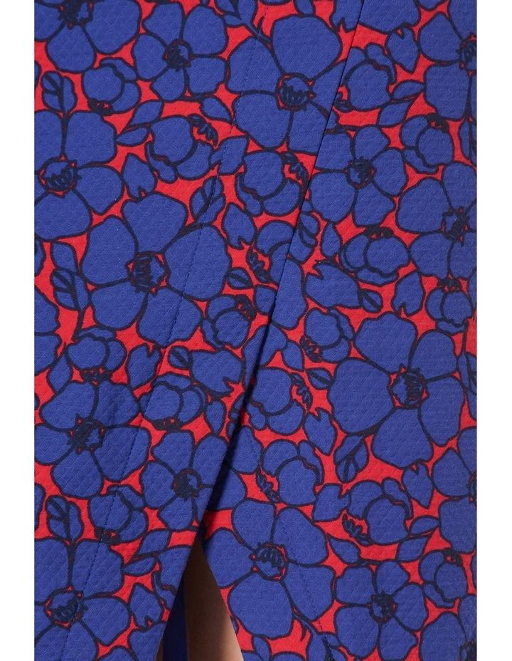Lena Floral Print Textured Skirt image 4