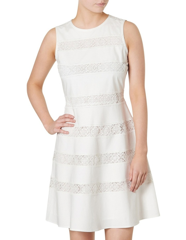 Marilyn Lace Stripe Sleeveless Dress image 1