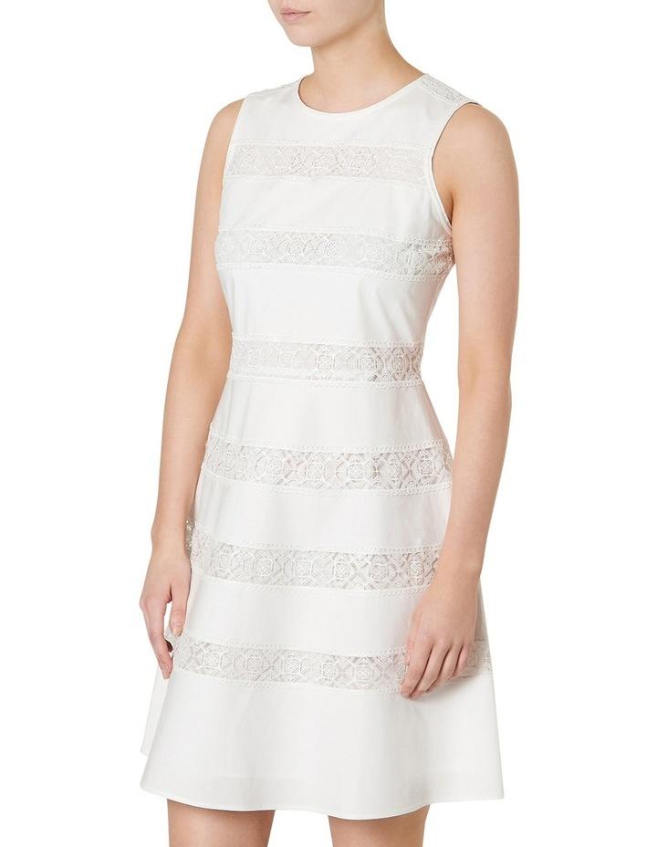 Marilyn Lace Stripe Sleeveless Dress image 2