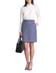 Mckay Denim Stripe Pencil Skirt