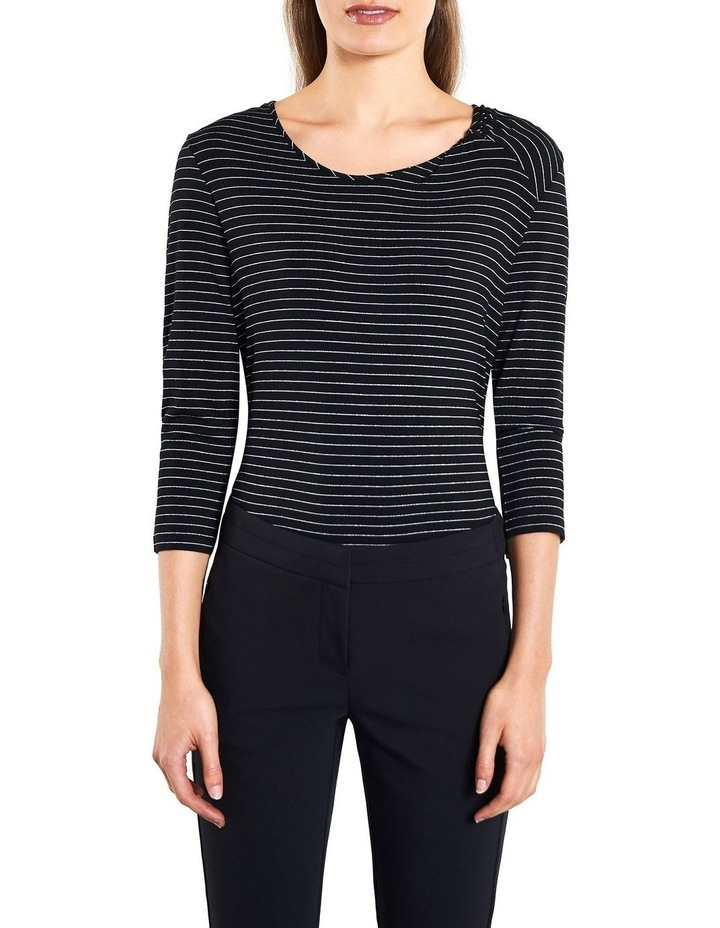 Lurex Stripe Twist Neck Top image 1