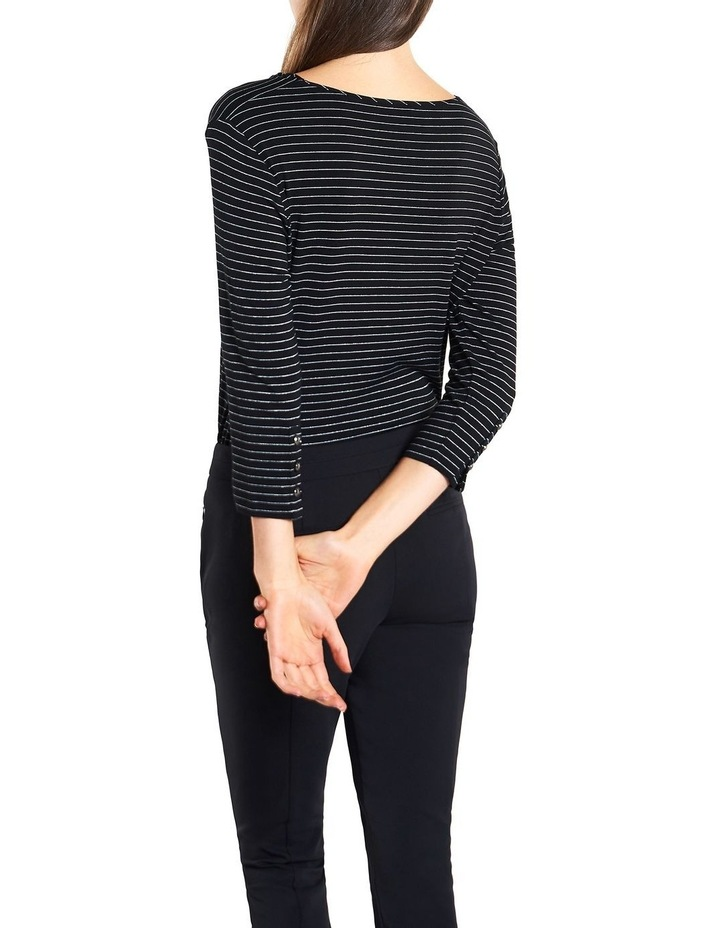 Lurex Stripe Twist Neck Top image 4