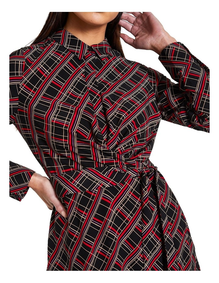 Check Shirt Dress image 3