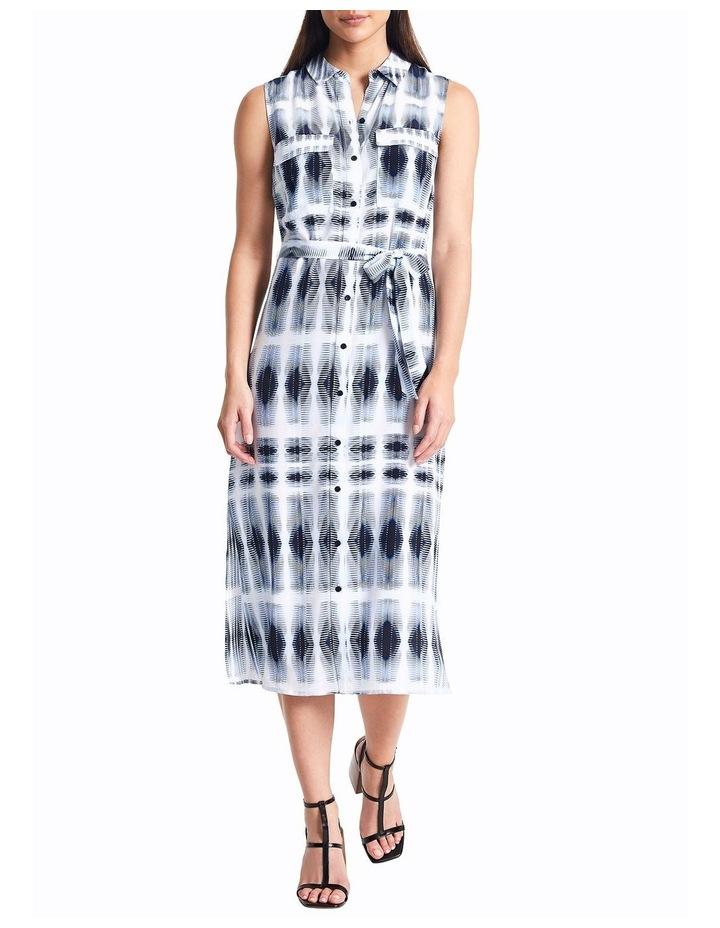 Sofia Silk Tie Dye Shirt Dress image 1
