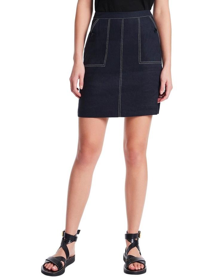 Eva Stretch Linen Skirt image 1