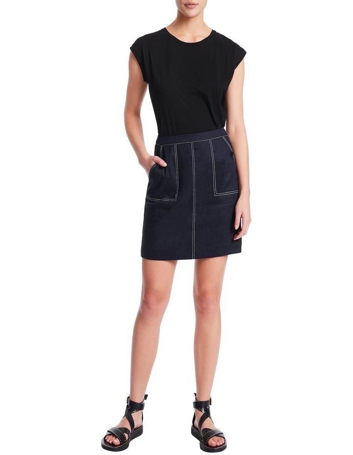 Eva Stretch Linen Skirt image 2