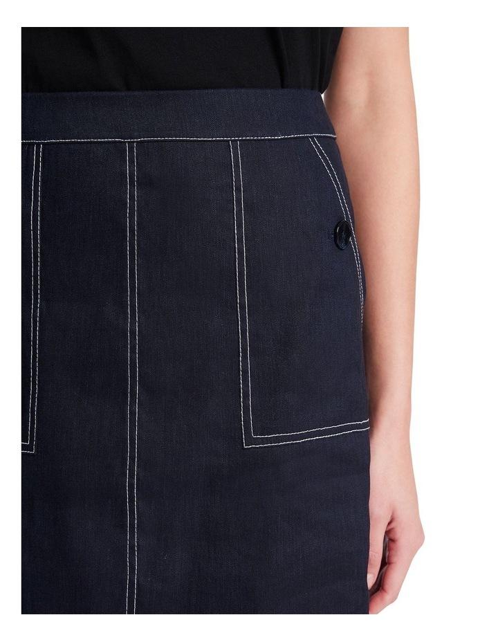 Eva Stretch Linen Skirt image 3