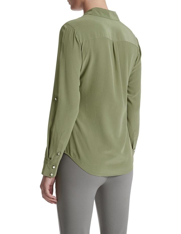 Sofia Silk Utility Shirt image 3