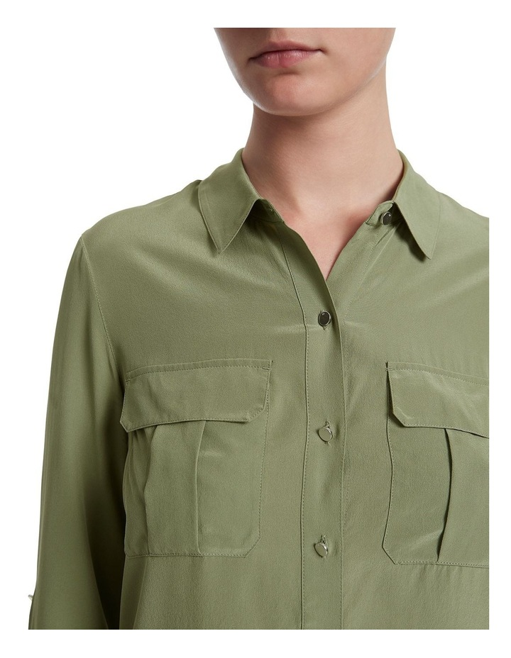 Sofia Silk Utility Shirt image 4