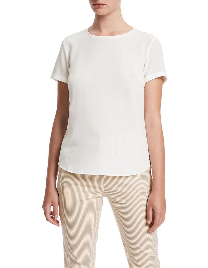 Jessie Short Sleeve Silk Jersey Tee image 1