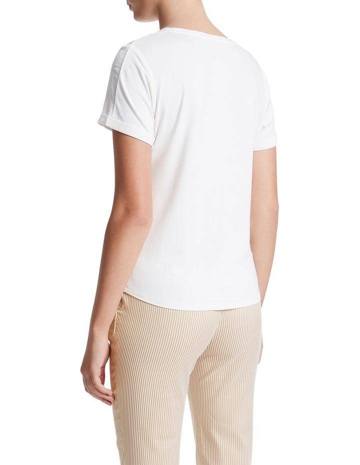 Jessie Short Sleeve Silk Jersey Tee image 3