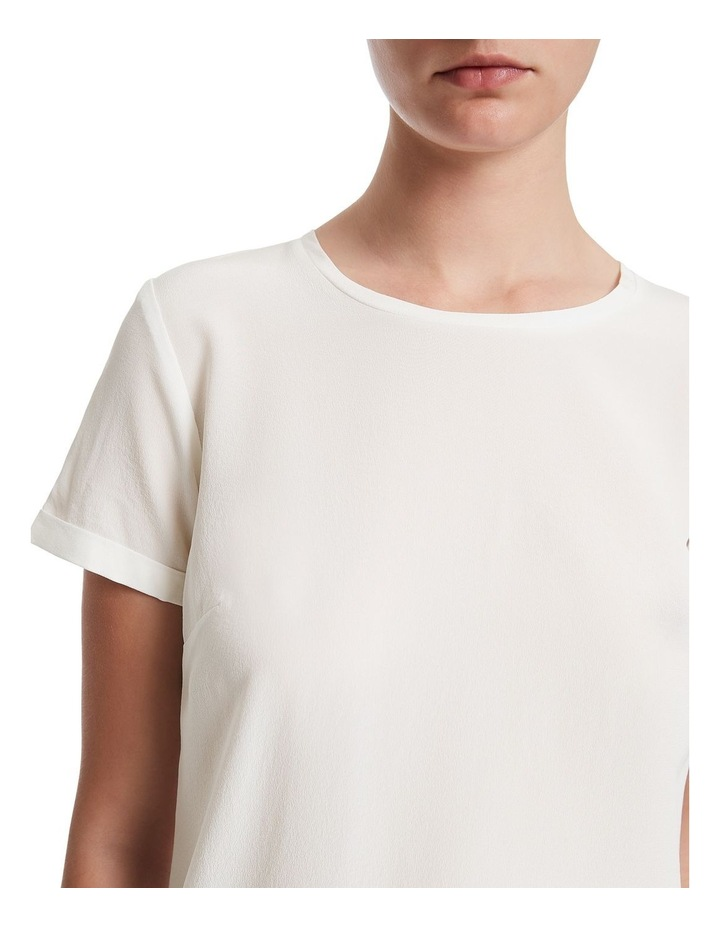 Jessie Short Sleeve Silk Jersey Tee image 4