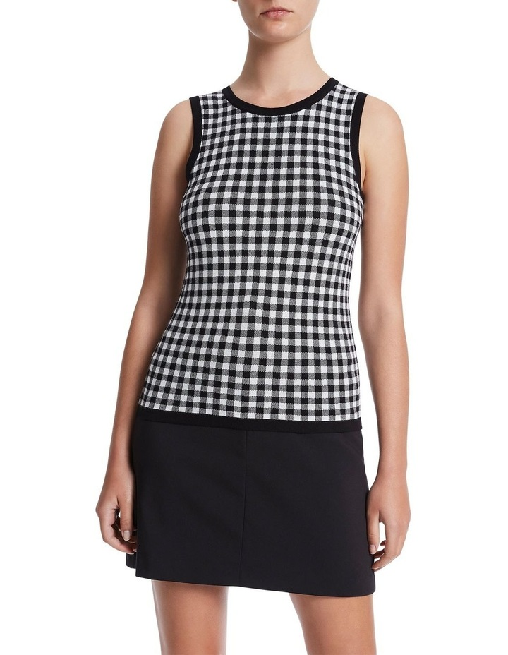 Gingham Knit Top image 1