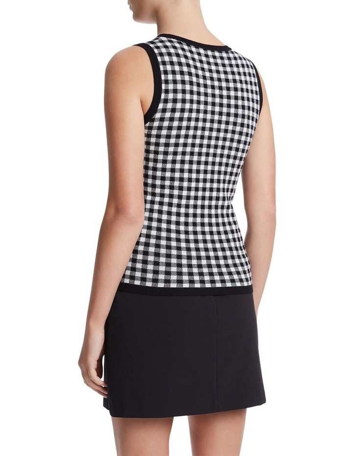 Gingham Knit Top image 3